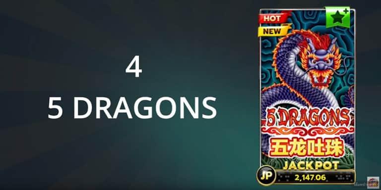 แนะนำ 5 เกมสล็อตห้ามพลาด 5 DRAGONS